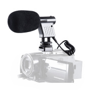 BOYA Video & Broadcast Directional Condenser Microphone with Windshield for Canon Nikon Sony Panasonic DSLR cameras and Camcorder DV
