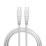 USB-C to USB-C Charging Cable, Fiveboy USB 3.1 Gen 2 Type C Male to Male Cable(6.6ft/2m) with Power Delivery and Fast Charge - White