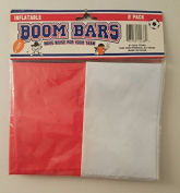 Inflatable Boom Bars Red and White 2 Pack NIP