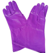 Leather Gauntlet Gloves PURPLE X-SMALL