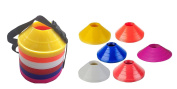 Set Of 60 Mini Track & Field Agility Training Boundary Marker Disc Saucer Cones