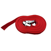 Pair of 25mm x 5 Metre Kayak Cam Straps with Protective Pad – Red