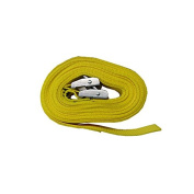 Pair of 25mm x 3 Metre Kayak Cam Straps with Protective Pad – Yellow