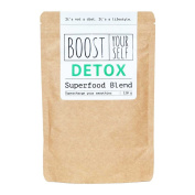Superfood Green Detox Smoothie Powder by Boost Yourself Natural Weight Loss Increases Energy and Muscle Strength with Wheatgrass Chlorella Camu Camu Spirulina & Barley Grass To Supercharge Your Health