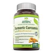 Herbal Secrets Turmeric Curcumin with Bioperine Dietary Supplement – 1500mg per Serving, 180 VCaps Per Bottle