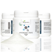 Magnesium Citrate Powder 300g   High quality from Trimagnesium dicitrate   Strengthen Muscles, Enhance Performance, Endurance  100% Vegan by Vegavero
