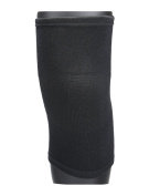sourcingmap® Unisex Compression Cotton Bamboo Fibre Knee Support Sleeves Medium Black