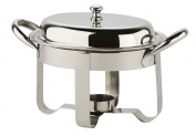 Porcelite Presentation CB0058 Oval Mini Chafing Dish, 18cm , 350 mL