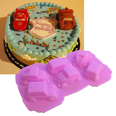 Carton Cars Shape For Silicone Cake Moulds Fondant Cake Decorate DIY Tools