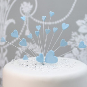 Hearts Cake Topper Decoration / Spray In Blue
