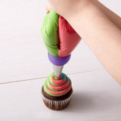 1 PCS 3 Holes Cake Decoration Converter Mix Icing Piping Nozzle Converter for Cupcake Random Colour