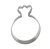 decolordulce Balloon Cookie Cutter, Stainless Steel, Silver, 13 x 10 x 3 cm
