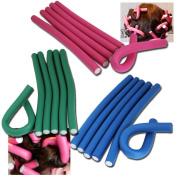 Jazooli 10pc Bendy Flexible Foam Hair Rollers Curlers Waves Soft Tool Salon Hairdressing - Medium