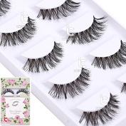 5 Pairs Black Long Natural False Eyelashes Makeup Fake Thick Eye Lashes Beauty