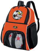 Soccer Nut Soccer Ball Backpack or Volleyball Bag Orange