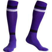Fracer Men's Knee High Athletic Stripe Tube Sports Socks for Football Baseball Training Race