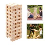 NEW GIANT MEGA JENGA TOWER 60 PINE WOODEN BLOCKS GARDEN GAME TOYS FAMILY KIDS