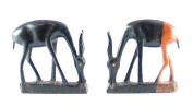 Gazelle carving in Ebony wood 8 cm - Single or Pair - Handcrafted Africa Fair Trade