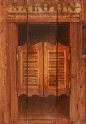 Gizaun Art Saloon Door 41cm by 60cm Inside/Outside Wall Art, Full Colour on Cedar