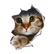 New Removable 3D Cat Bathroom Toilet Wall Stickers Decals Vinyl Mural Home Decor DIY Cat