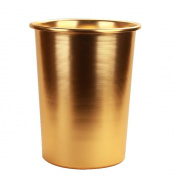 Bins Dustbins Trash Cans Indoor Dustbins Bathroom Bins Not Cover Metal Basket Stainless Steel Round Gold , gold
