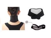CMJ Self Heating Magnetic Neck Support Strap Wrap Brace Heat Pain Relief Ache Strain UK SELLER