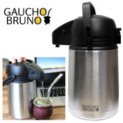 Desktop Flask with Precision Dose Dispenser Gaucho Bruno Ideal for Yerba Mate
