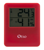 Red Magnetic Indoor Thermometer/hygrometer