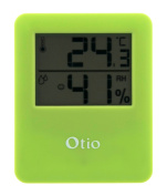 Green Magnetic Indoor Thermometer/hygrometer