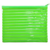 Large Glossy Green PVC Pencil Case Wash/Make Up Bag