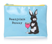 Casey Rogers Party Animals Beaujolais Bunny Blue Cosmetics Make Up Wash Bag Novelty Design