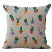 Home Cushion Cover Pillowcase Cotton Linen Pillow Case Square With Different Parterns