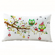 Cushion Covers, Tatis 30*50CM Christmas Rectangle Cotton Linter Pillow Cases