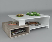 DUX Coffee Table - White / Avola - Living room table - Sofa table - Sie table in modern and stylish design