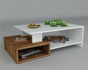DUX Coffee Table - White / Walnut - Living room table - Sofa table - Sie table in modern and stylish design