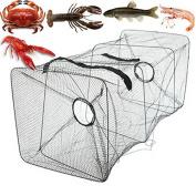 Asdomo Fishing Bait Trap Dip Net Cage Crab Fish Minnow Crawdad Shrimp Foldable
