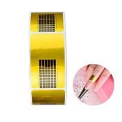 G2PLUS 500PCS Nail Art Forms Sticker, Extension Guide Self-adhesive Tips for Acrylic UV Gel Nail Art
