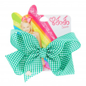 JoJo Siwa Green Gingham Print Back To School Hair Bow