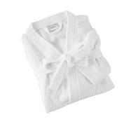 Great Knot 360 GSM KIMONO style 100% cotton terry towelling bathrobes white