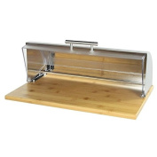 Bread Box Bamboo and Stainless Steel