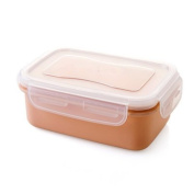 Food Storage Containers for Kids and Adults, Rectangular storage box plastic sealed box lunch in the kitchen fresh food box lunch box refrigerator small storage box,Square pink