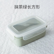 Food Storage Containers for Kids and Adults, Refrigerator seal boxes, round box, rectangular boxes in the kitchen grain storage box,Green, oblong