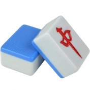 LI JING SHOP - blue solid Melamine Material Mahjong, Home small Medium number large Hand rubbing Mahjong, size