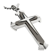 Stainless Steel Cross Pendant Men's Necklace Chain