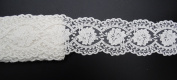 eZthings Cotton Lace Embroidery Wedding Fabric Trim for DIY Decorating, Floral Designing and Crafts (3 Yard, White