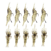 10pcs Soft Artificial Fishing Lures Fish Baits Set with Hook Fishing Tackle Accessories for Trout Bass Salmon