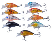 RUNakan 1 Pc Fishing Lures Kinds of Minnow Fish Bass Tackle Hooks Baits Crankbaits