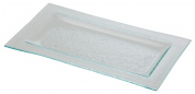 Porcelite Presentation CB70612 Glass Plate Rectangular 32.9 cm x 17.8 cm