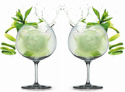 Elegant Bohemia Crystal Gin and Tonic Cocktail Balloon Glasses Transparent 82 cl