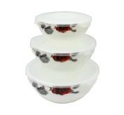 """'Set of 3 Food Containers Storage Container """"Roses Storage Container with Lid Interos"""